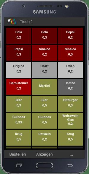Prisma Gastrokasse Mobil mit 5 Zoll Smartphone von Samsung