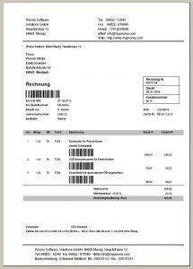 Büro Profi Rechnung mit Barcode