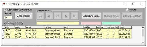 Lieferando Webserver