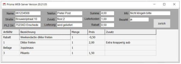 Lieferando_Webserver Detailansicht