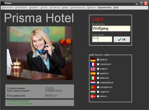 Prisma Hotelsoftware Login