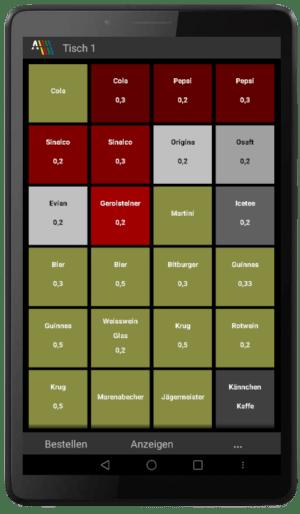 Prisma Gastrokasse Mobil mit 7 Zoll Tablet von Lenovo